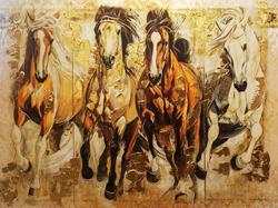 At Figürlü Dekoratif Tablo 75x100 görseli
