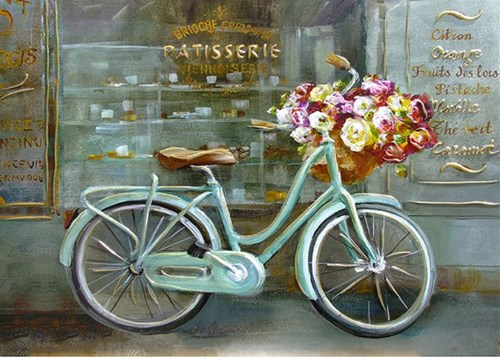 Bisikletli Dekoratif Tablo görseli