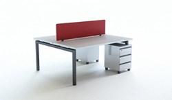 Lincor İkili Kesonlu Çalışma Masası + Panel görseli